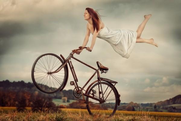 biciklis lebegés