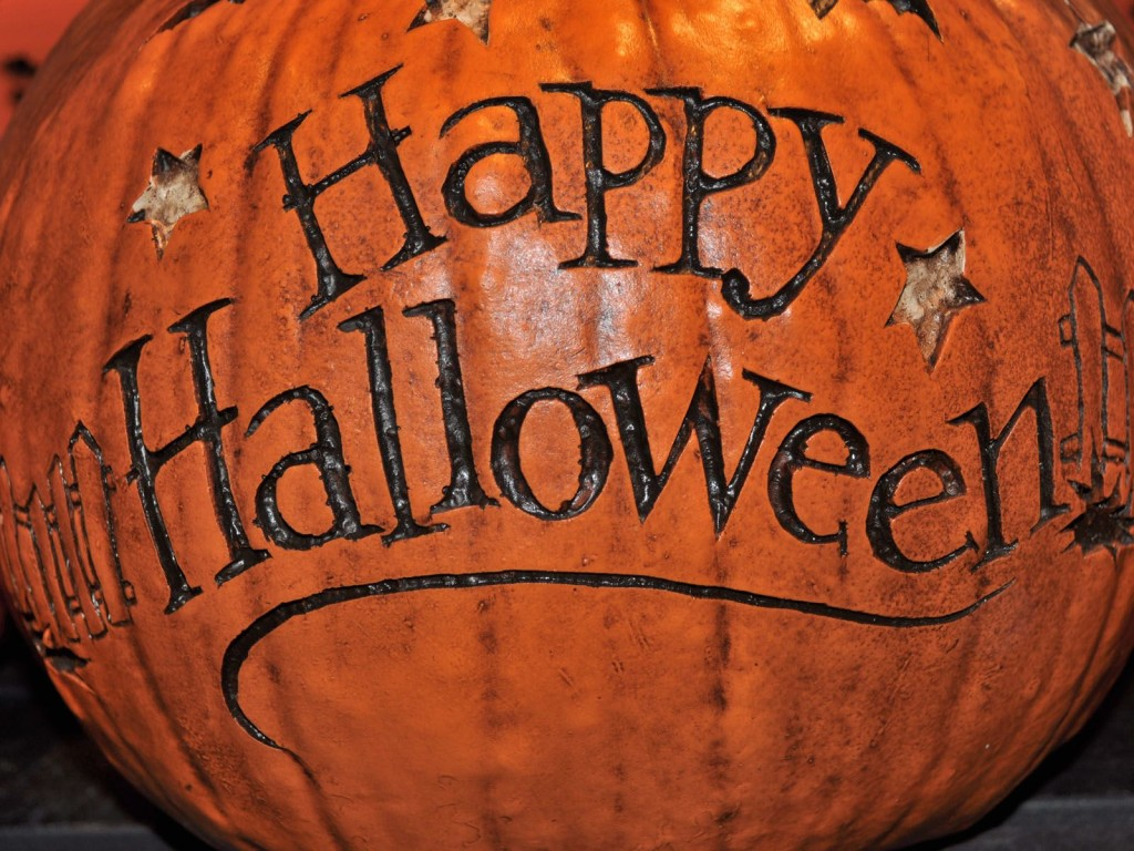 Happy-Halloween-Pumpkin-Text-Wallpaper