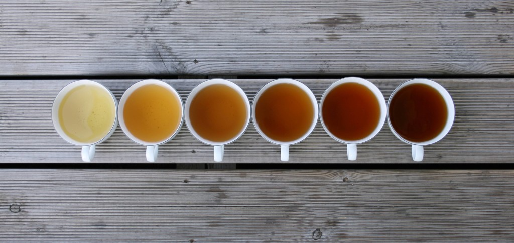 zöld tea különböző színekben