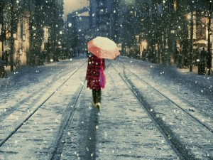 Incredible-TV-Shows-Image-Girl-Walking-in-Snow-Schoolsuit-and-Umbrella-Are-You-Lonely-