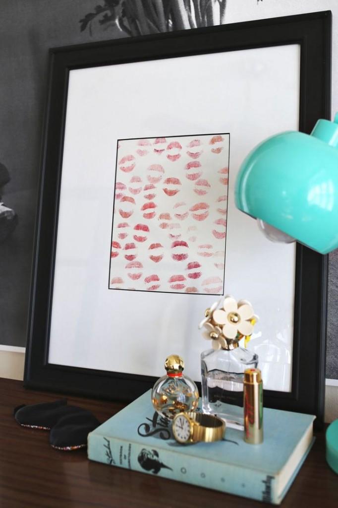 lipstick art diy