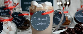 Nyomtatható címkék és kép forró csoki partihoz!
