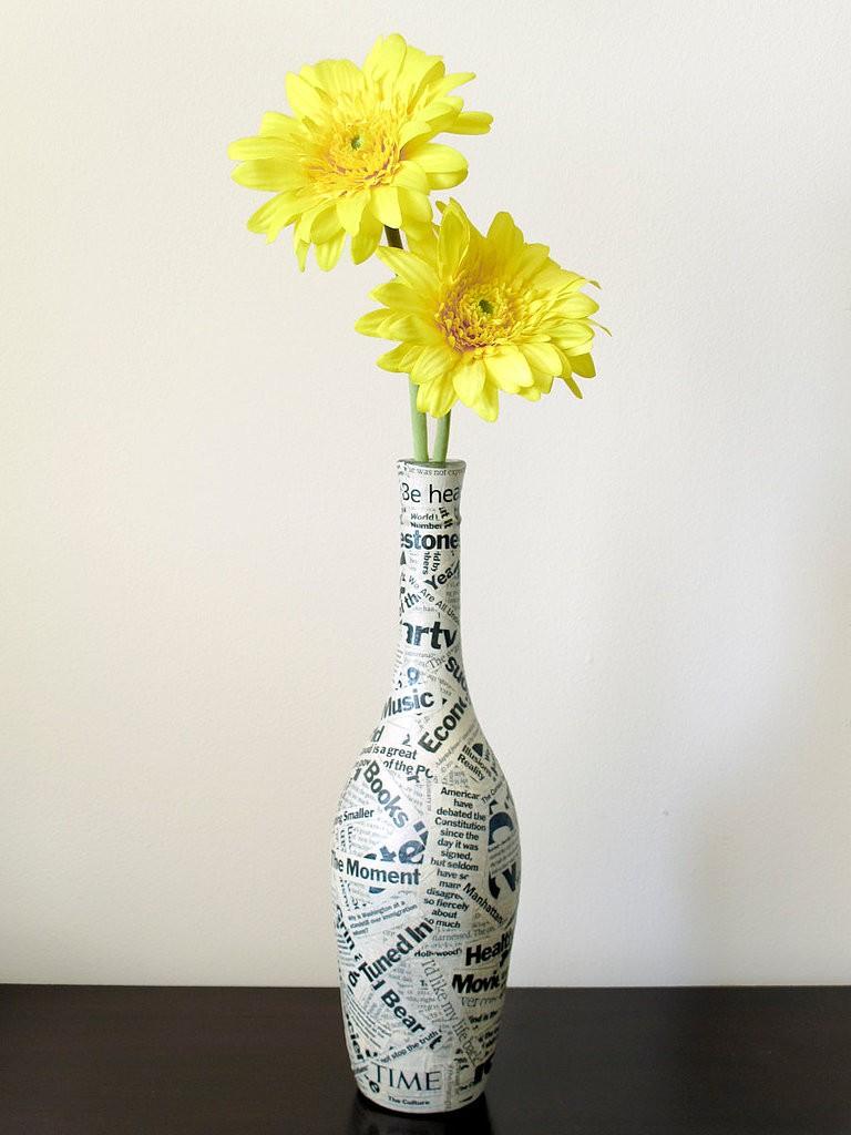 újságpapír váza