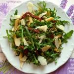Boldog saláta #11: Rukkolás-szárított paradicsomos tésztasaláta