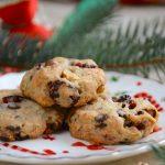 Vörös áfonyás-csokis karácsonyi kekszek