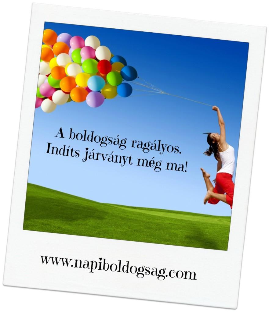 a boldogság ragályos