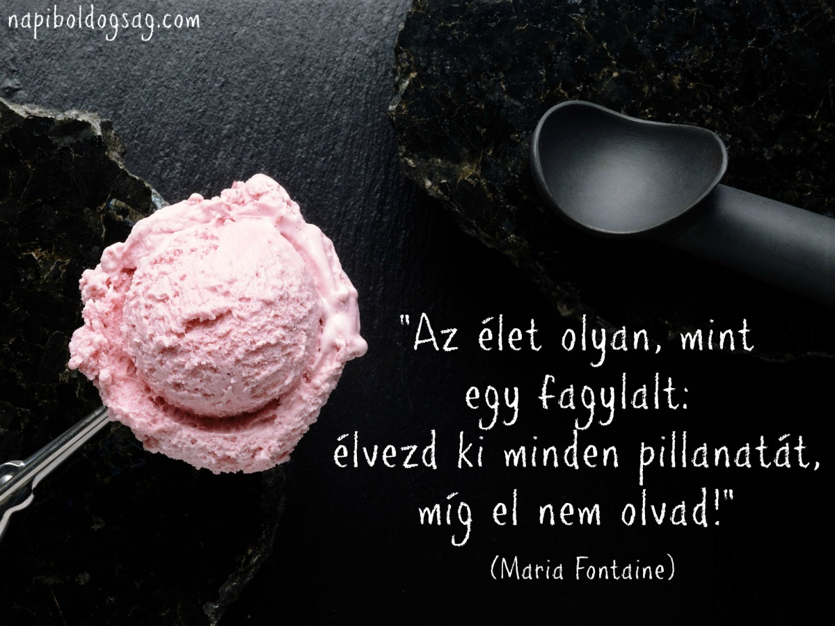 fagyis idézetek Az élet olyan, mint egy fagylalt     Napi Boldogság
